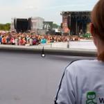 Foto: Rollstuhl auf Festival