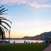 Dämmerung an der Côte d'Azur - Strandpromenade