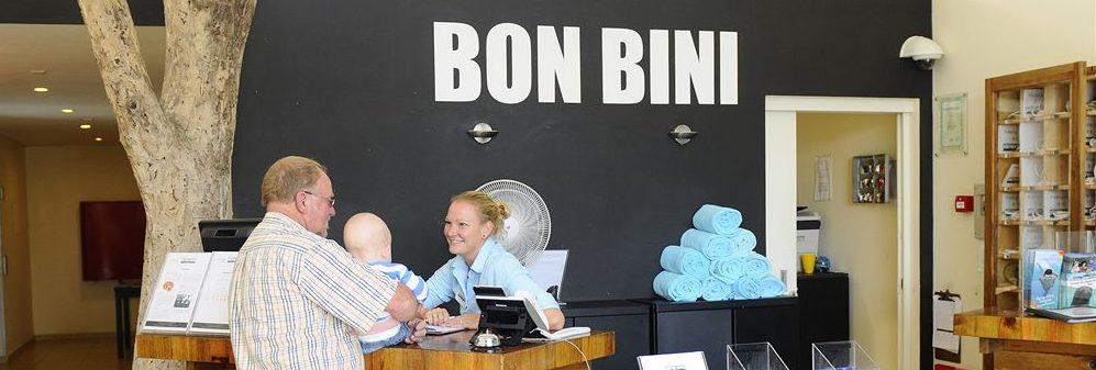 Bon Bini über der Rezeption