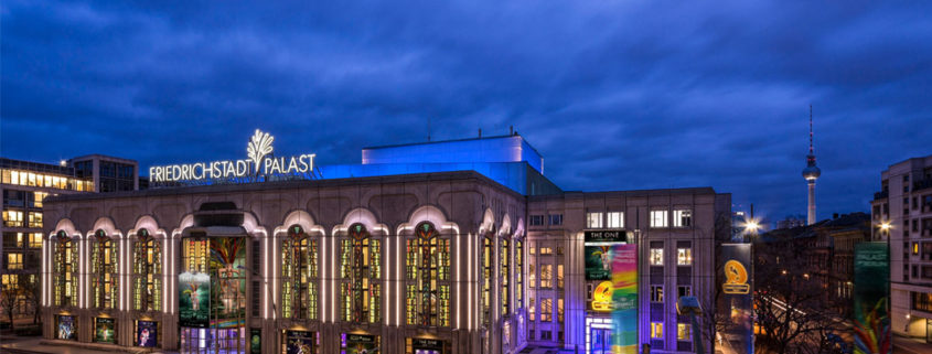 Friedrichstadt-Palast Berlin bei Nacht