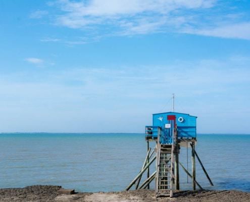 Französische Fischerhütte auf Stelzen